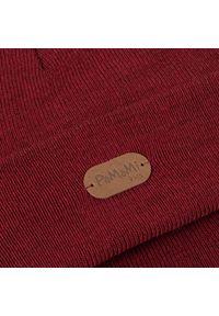 Modna czapka dziecięca smerfetka PaMaMi - Bordowy. Kolor: czerwony. Materiał: akryl