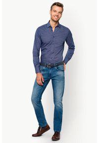 Niebieskie jeansy Lancerto z aplikacjami