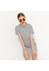 House - T-shirtowa sukienka z bawełny organicznej - Paski. Materiał: bawełna. Wzór: paski