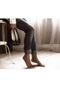 Baleriny Zapato z kwadratowym noskiem, na obcasie