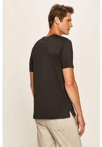 Czarny t-shirt Calvin Klein Performance na co dzień, casualowy, z nadrukiem