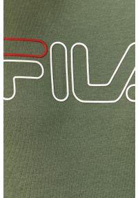 Bluza nierozpinana Fila casualowa, z okrągłym kołnierzem, na co dzień, z nadrukiem