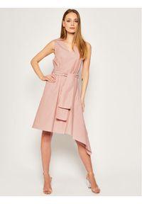 Różowa sukienka koktajlowa MAX&Co. wizytowa