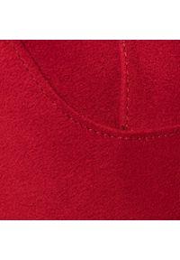 Czerwone kozaki Steve Madden z cholewką, na obcasie, na średnim obcasie
