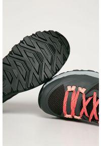 Szare buty trekkingowe The North Face z cholewką, z okrągłym noskiem, na sznurówki