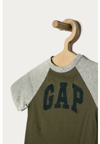 Zielony t-shirt GAP na co dzień, casualowy, z nadrukiem