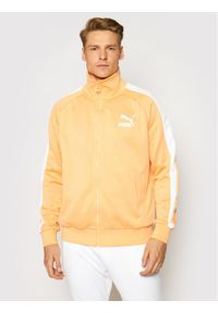 Puma Bluza Iconic T7 530095 Pomarańczowy Regular Fit. Kolor: pomarańczowy