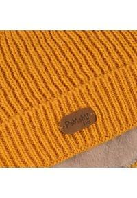 Zimowa czapka dziewczęca PaMaMi - Miodowy. Kolor: pomarańczowy. Materiał: poliamid, akryl. Sezon: zima