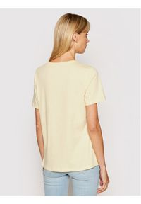NA-KD T-Shirt Basic Logo 1044-000097-0404-003 Żółty Loose Fit. Kolor: żółty