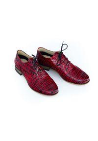 Półbuty Zapato biznesowe, w kolorowe wzory