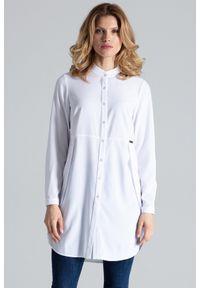 Figl - Biała Koszula -Tunika Zapinana Na Zatrzaski. Kolor: biały