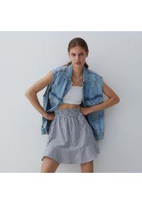 Reserved - Bawełniana spódnica mini - Wielobarwny. Materiał: bawełna