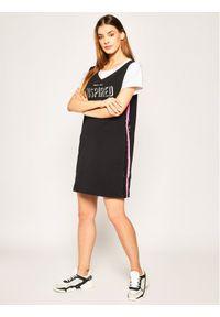 Czarna sukienka sportowa Liu Jo na co dzień, casualowa