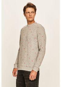 Szara bluza nierozpinana Only & Sons z okrągłym kołnierzem, casualowa