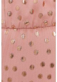 Nissa - NISSA - Sukienka. Kolor: różowy. Materiał: tkanina. Typ sukienki: rozkloszowane, plisowane