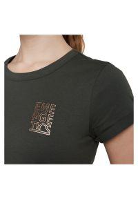 Koszulka damska Energetics Java 294564. Materiał: poliester, materiał, bawełna. Długość rękawa: krótki rękaw. Długość: krótkie