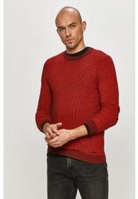 Czerwony sweter Hugo na co dzień, casualowy