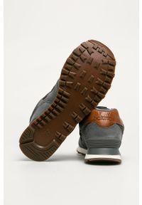 Szare sneakersy New Balance New Balance 574, z cholewką, na sznurówki