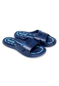 LANO - Klapki dziecięce basenowe Lano KL-2-3060-M1 Granatowe. Okazja: na plażę. Kolor: niebieski. Materiał: guma