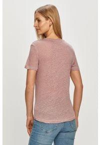 Różowa bluzka only gładkie, na co dzień
