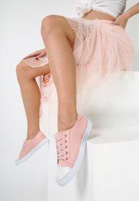 Renee - Różowe Trampki Mesmerizing. Kolor: różowy. Materiał: materiał