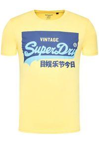 Żółty t-shirt Superdry
