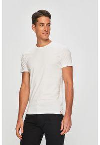 Levi's® - Levi's - T-shirt (2 pack). Okazja: na co dzień, na spotkanie biznesowe. Kolor: beżowy. Materiał: dzianina. Styl: biznesowy, casual