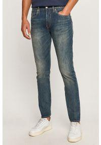 Niebieskie jeansy Levi's® na spotkanie biznesowe, w kolorowe wzory, biznesowe