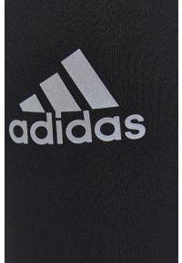 adidas Performance - Adidas Performance - Legginsy. Kolor: czarny. Materiał: dzianina. Wzór: gładki