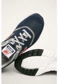 Niebieskie sneakersy New Balance na sznurówki, z cholewką