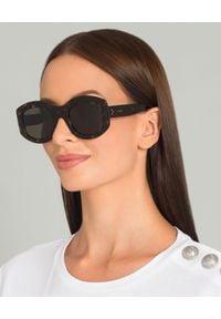 CELINE - Okulary przeciwsłoneczne. Kształt: owalne. Kolor: brązowy