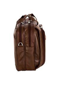 Torba na laptopa MCKLEIN Irving Park 15.6 cali Brązowy. Kolor: brązowy. Materiał: skóra. Styl: biznesowy, sportowy