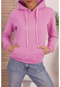 Różowa bluza IVET z kapturem, na co dzień, casualowa
