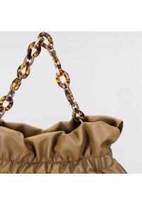 Wittchen - Torebka worek z szylkretowym łańcuchem duża. Materiał: skórzane. Rozmiar: duże. Styl: klasyczny, casual