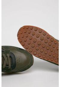 Zielone sneakersy U.S. Polo Assn z okrągłym noskiem, z cholewką