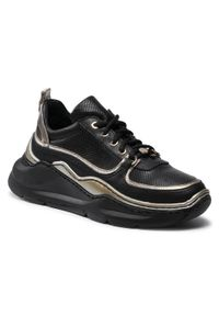Eva Longoria - Sneakersy EVA LONGORIA - EL-04-03-000418 136. Okazja: na co dzień. Kolor: czarny. Materiał: skóra. Sezon: lato. Styl: elegancki, sportowy, casual