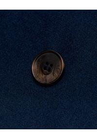 ICON - Granatowa dwurzędowa marynarka z wełny Indaco. Kolor: niebieski. Materiał: wełna. Styl: elegancki