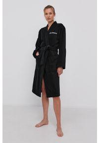 Karl Lagerfeld - Szlafrok. Kolor: czarny. Materiał: włókno, dzianina