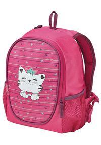 Herlitz plecak Rookie Kot. Kolor: różowy. Wzór: paski