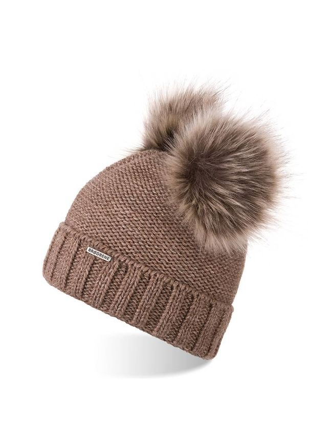 Czapka BRODRENE elegancka, na zimę