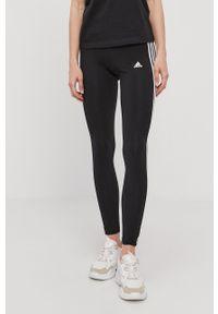 Adidas - adidas - Legginsy. Kolor: czarny. Materiał: dzianina