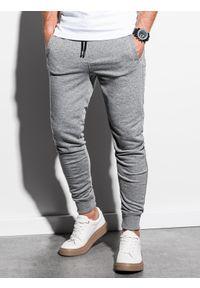 Szare spodnie Ombre Clothing melanż, klasyczne