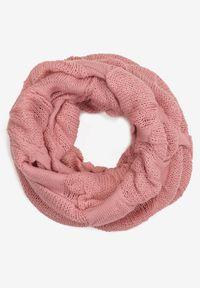 Renee - Różowy Szalik Calis. Kolor: różowy. Materiał: dzianina. Wzór: jednolity. Styl: elegancki