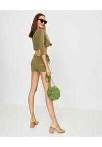 LISA MARIE FERNANDEZ - Zielony kardigan Terry. Okazja: na plażę. Kolor: zielony. Materiał: materiał. Styl: wakacyjny