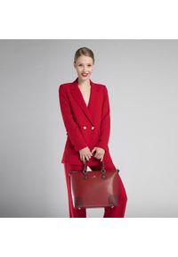 Czerwona torebka klasyczna Wittchen klasyczna, zdobiona