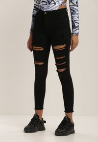 Renee - Czarne Spodnie Skinny Vhesova. Kolor: czarny