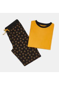 Żółta piżama Sinsay z nadrukiem