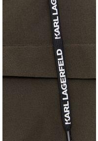 Karl Lagerfeld - Parka. Typ kołnierza: kaptur. Kolor: zielony