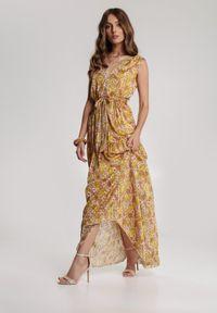 Żółta długa sukienka Renee
