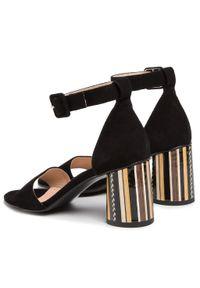 Czarne sandały Ann Mex casualowe, na co dzień